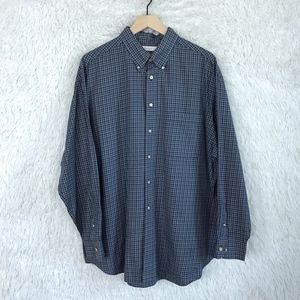 Turnbury Button Down Shirt Blue Plaid Vintage
